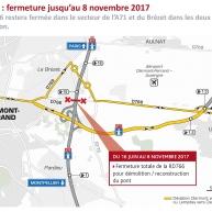 Travaux sur la départementale Lempdes/Aulnat